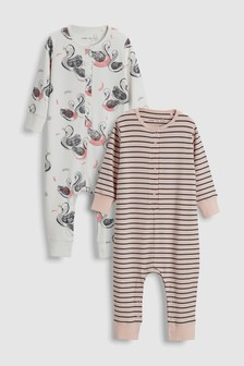 Swan Sleepsuits Two Pack (9mths-8yrs)