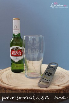 Personalised Lager Gift Set by Signature PG
