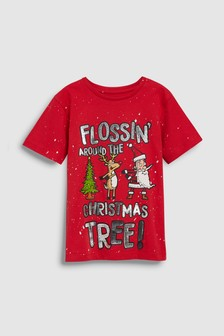 Christmas Flossin' T-Shirt (3-16yrs)