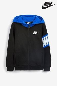 Nike Litte Kids Black Zip Through Hoody