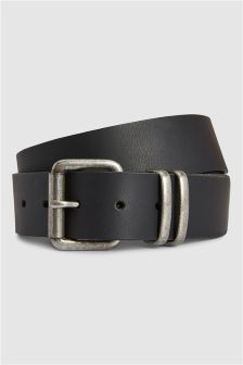 Leather Belt With Metal Loops