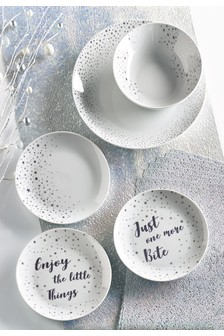 7 Piece Lustre Scribble Table Mats And Runner Set