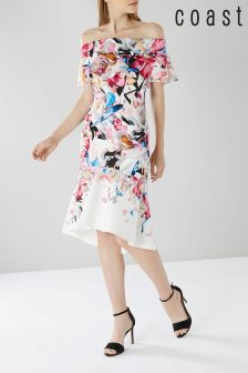 Coast White Jackie Print Scuba Shift Dress