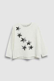 Sequin Star Long Sleeve T-Shirt (3-16yrs)
