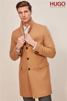 HUGO Camel Migor Overcoat