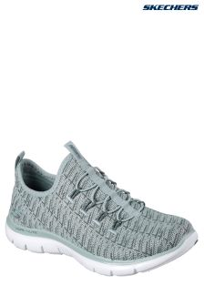 Skechers® Green Flex Appeal 2 Insights Green Knitted Bungee S