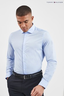Tommy Hilfiger Blue Tailored Core Stretch Poplin Shirt