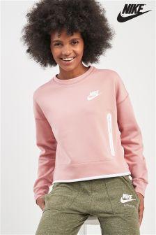 Nike Pink Tech Fleece Crew