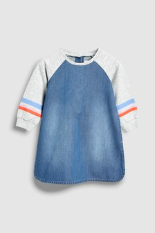 Denim Jersey Raglan Sleeve Tunic (3mths-6yrs)