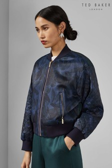 Ted Baker Navy Sandey Houdinii Quilted Bomber Jacket