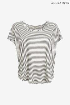 AllSaints White Stripe Brea T-Shirt