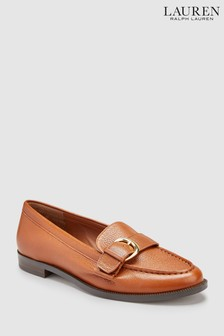 Lauren Ralph Lauren® Saddle Tan Bethy Buckle Loafer
