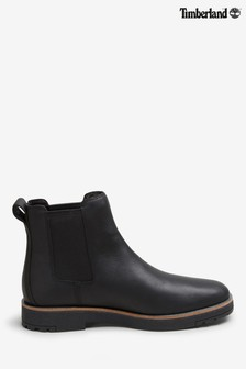 Timberland® Black Leather Chelsea Boots
