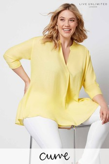 Live Unlimited Yellow Chambray Shirt
