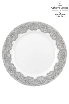 Set of 4 Silver Lace Side Plates