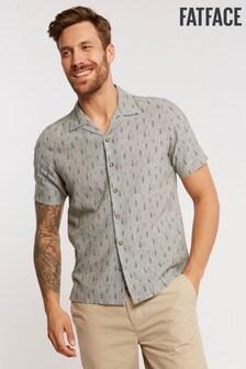 FatFace Green Feather Print Shirt