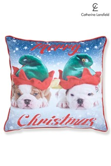 Catherine Lansfield Merry Christmas Dog Cushion