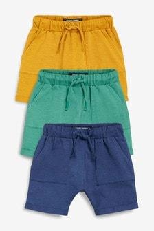 Komplet trojih lahkih kratkih hlač (3 mesecev–7 let)