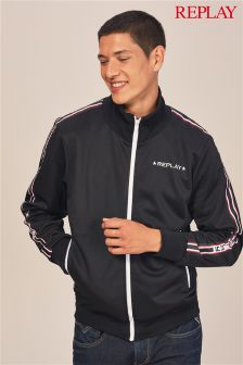 Replay® Black Taped Track Top