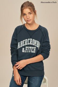 Abercrombie & Fitch Logo Crew Neck Sweater