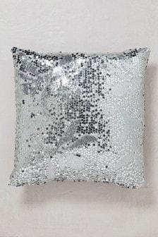 Silver Sequin Cushion