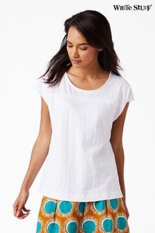 White Stuff White Lorna Textured Jersey Tee