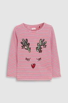 Weihnachtliches, langärmeliges T-Shirt (3-16yrs)