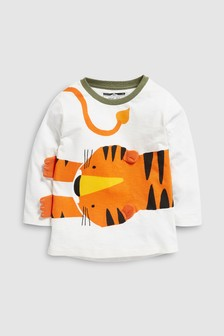 Long Sleeve 3D Tiger T-Shirt (3mths-6yrs)