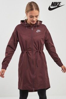 Nike Burgundy Long Jacket