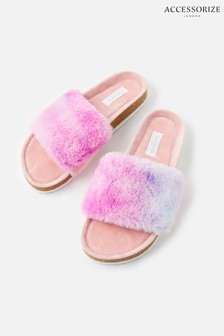 Accessorize Pink Fluffy Slider Slippers