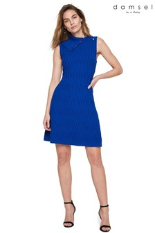 Damsel In A Dress Blue Alivia Cable Knitted Dress