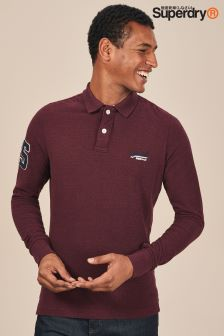 Superdry Classic Long Sleeve Pique Poloshirt