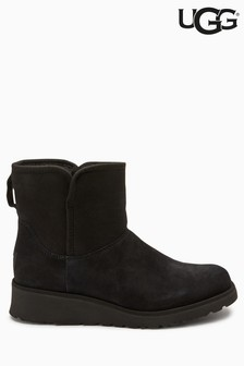 UGG® Black Kristin Wedge Mini Boot