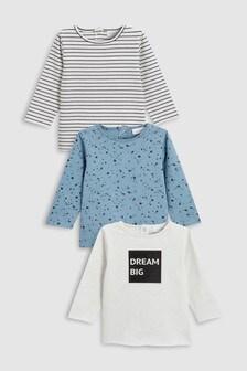 Print T-Shirts Three Pack (0mths-2yrs)