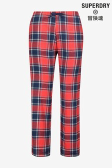 Superdry Red Check PJ Bottoms
