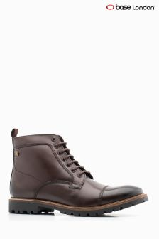 Base London® Brown Brigade Lace-Up Boot