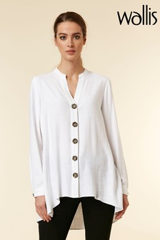 Wallis White Ivory Button Front Shirt