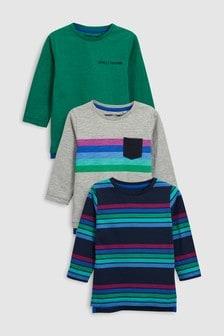 Long Sleeve T-Shirt Three Pack (3mths-6yrs)