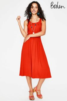 Boden Orange Emmie Jersey Dress