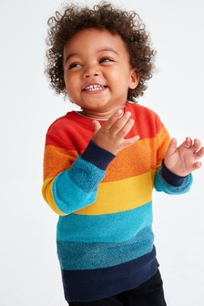 Colourblock Stripe Jumper (3mths-7yrs)
