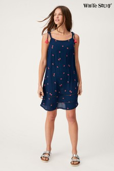 White Stuff Blue Rio Apples Dress