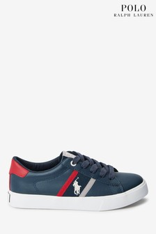 Ralph Lauren Geoff Lace Up Navy Logo Trainer