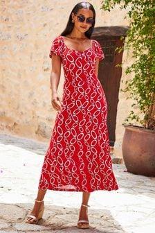 Ecco® Blue Lace-Up Casual Shoe