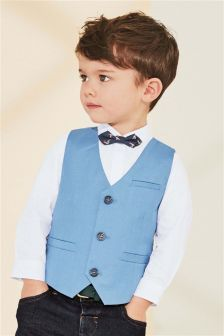 Floral Bow Tie, Shirt And Waistcoat Set (3mths-6yrs)