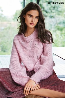 Whistles Pink Mohair Sweater