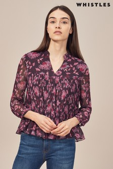Whistles Pitti Pink Print Blouse