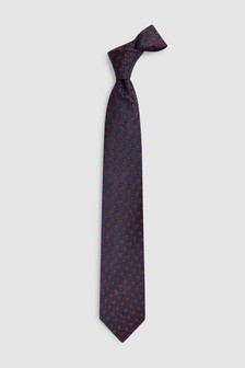 Floral Pattern Signature Tie