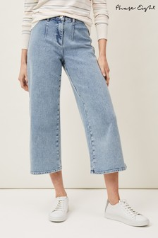 Phase Eight Blue Nora Pale Denim Culottes