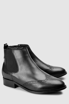 Forever Comfort Brogue Detail Chelsea Boots