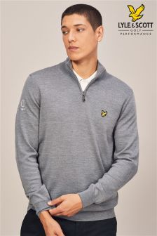 Lyle & Scott Golf Arisaig Quarter Zip Pullover Jumper